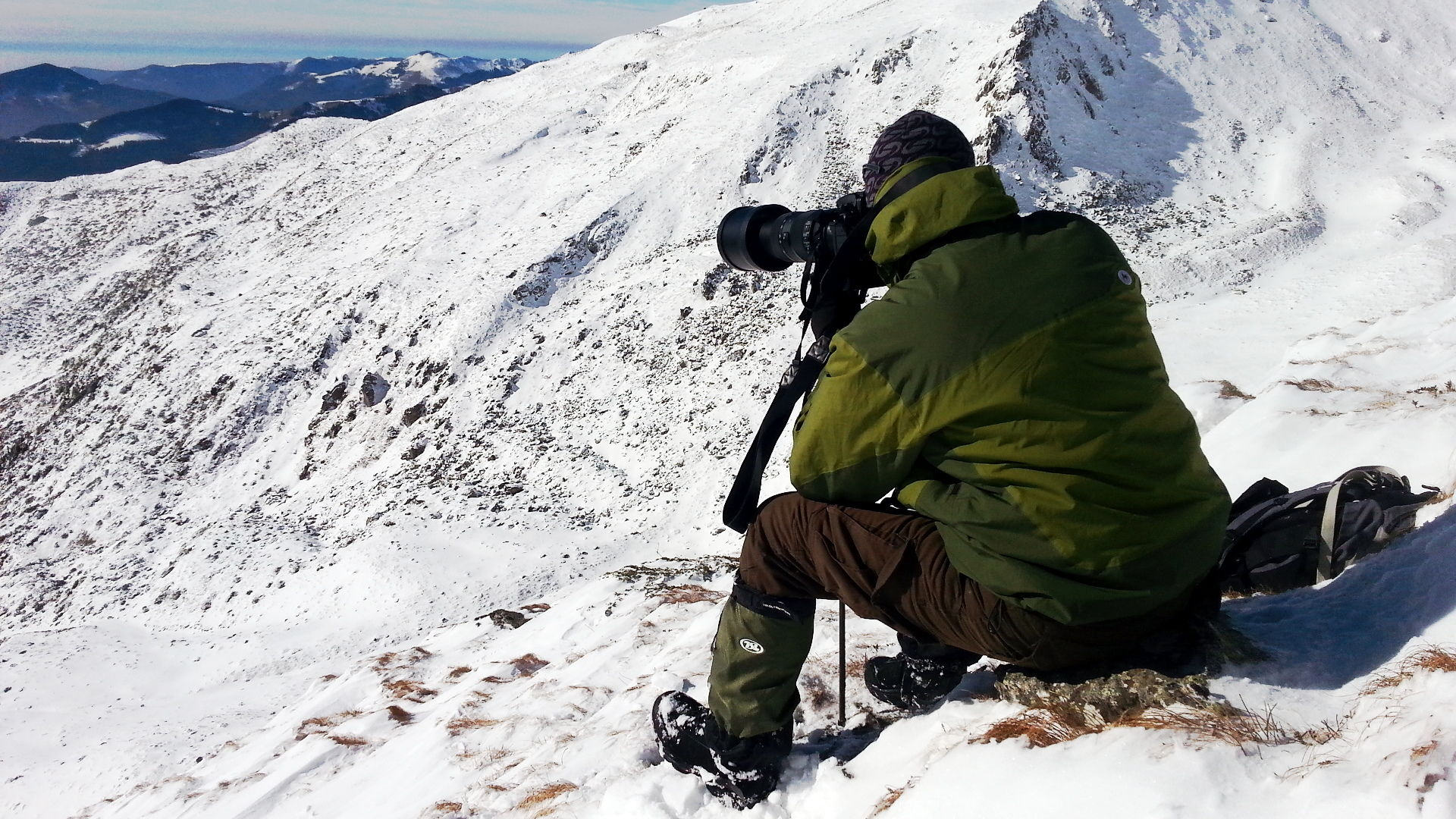 Wildlife photographer chassing Chamois (2016)